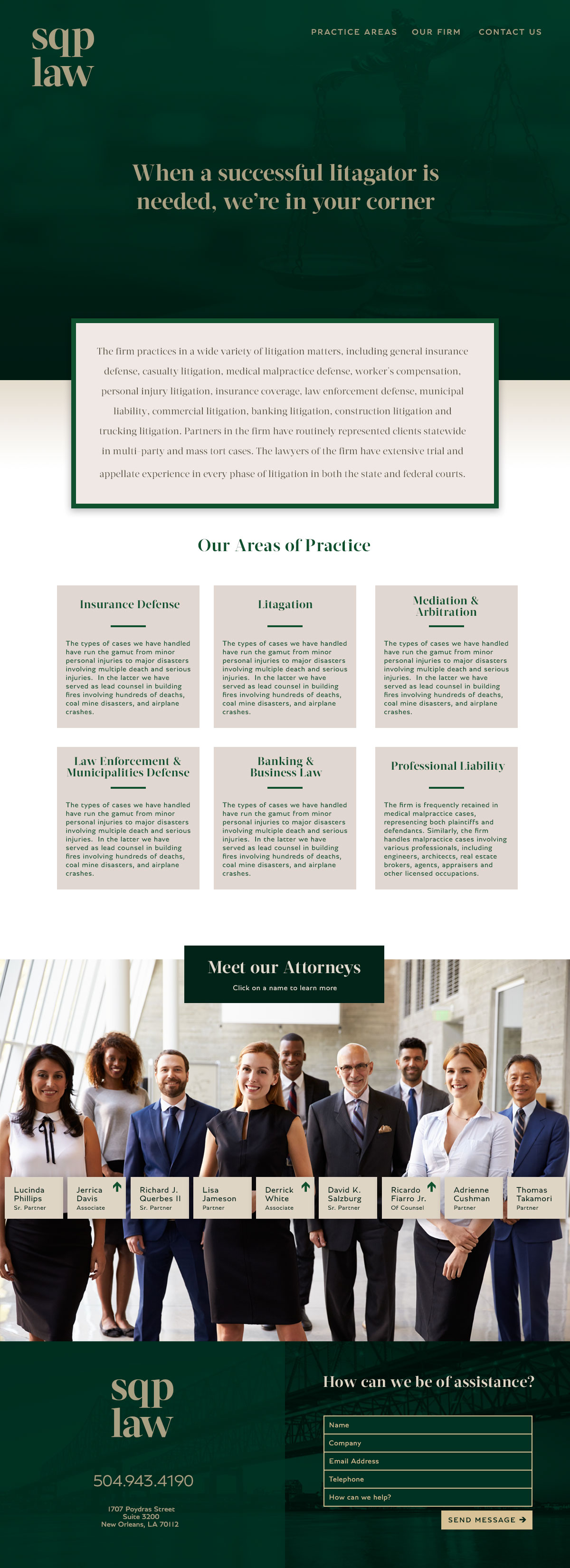 Law Firm Web Site Design