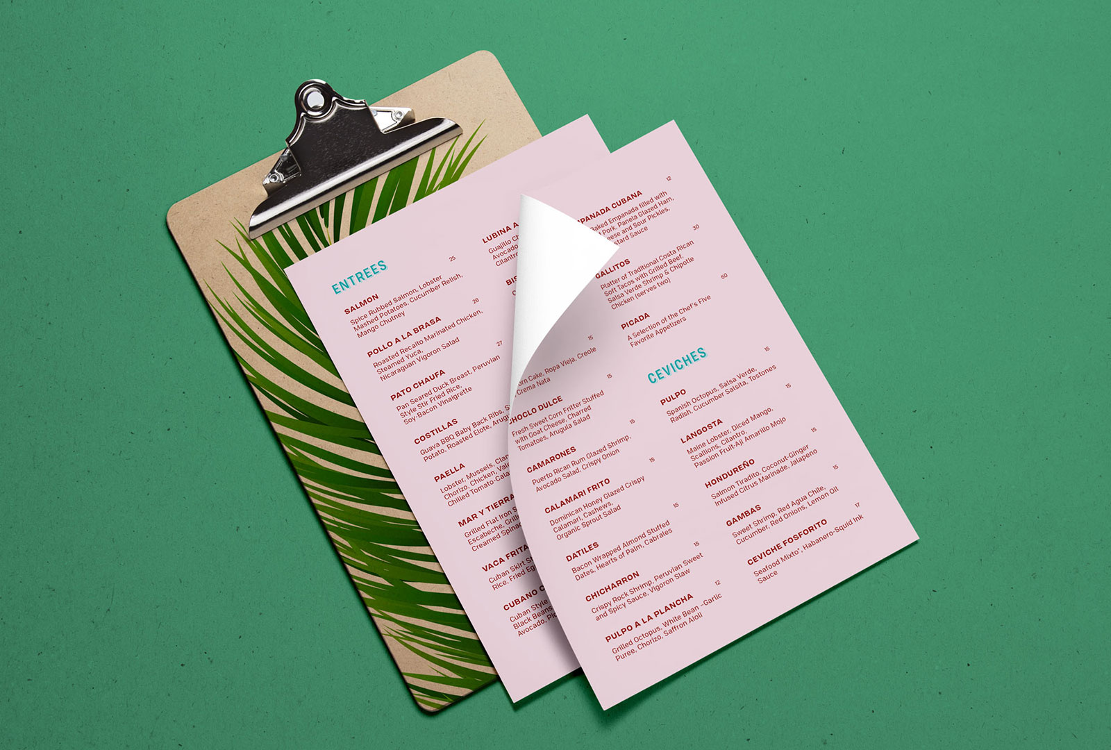 Restaurant Menu Design for Sabor Habana